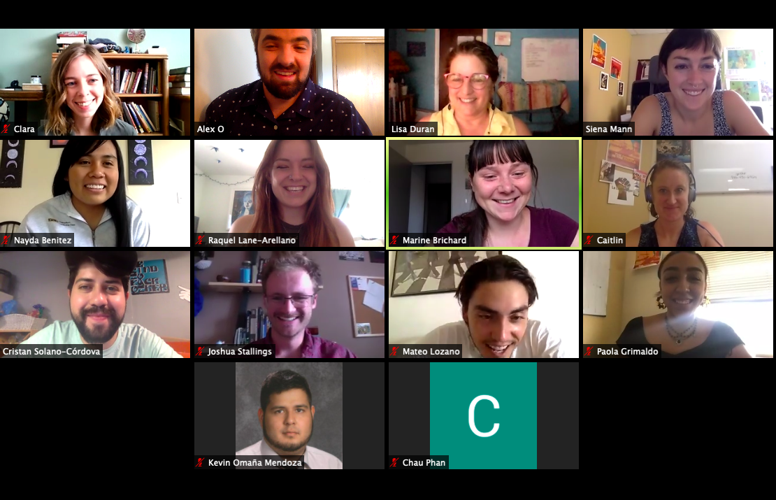 Image of a zoom meeting with CIRC staff members